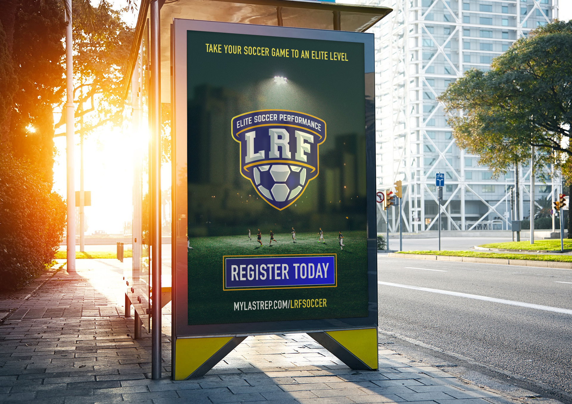 Arntz Richard Design Logo design lrf-soccer Billboard
